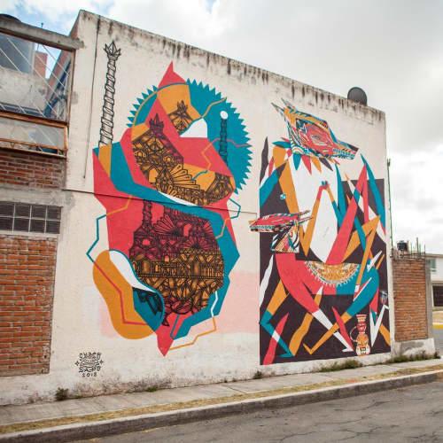 Street Murals by Isakov seen at Bosques del Pilar, Heroica Puebla de Zaragoza - Wall Mural