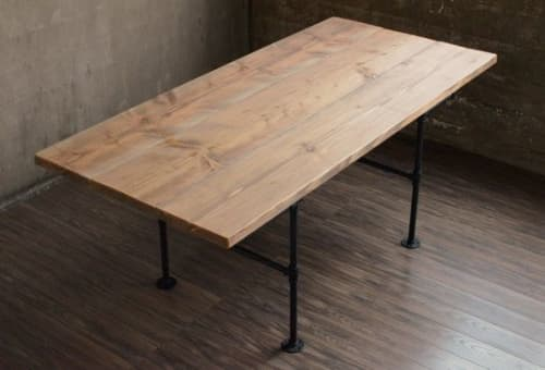 Industrial Dining Table | Tables by THE IRON ROOTS DESIGNS