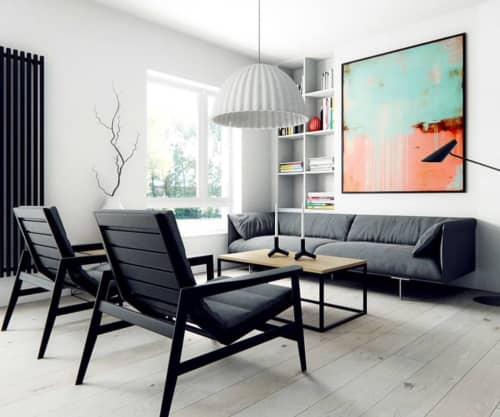 Painting showcased in designer room   Paintings by ERIN ASHLEY
