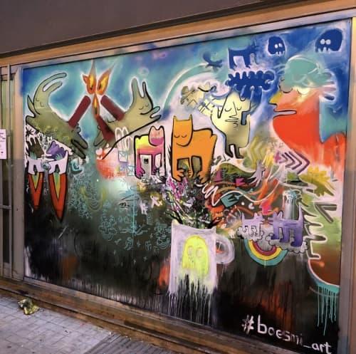 Murals by Sebastian Boesmi - Poblenou Urban District