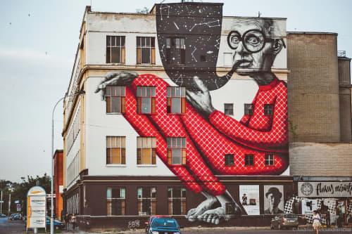 Old Wiseman   Street Murals by Gyva Grafika