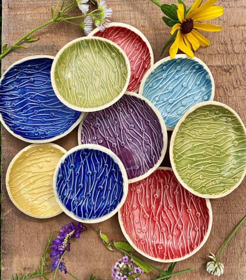 Spoon/Tea Bag Trivet, Wiggles & Dots | Tableware by Honey Bee Hill Ceramics