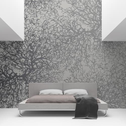 Wallpaper by Jill Malek Wallpaper - Gorgonian | Steel