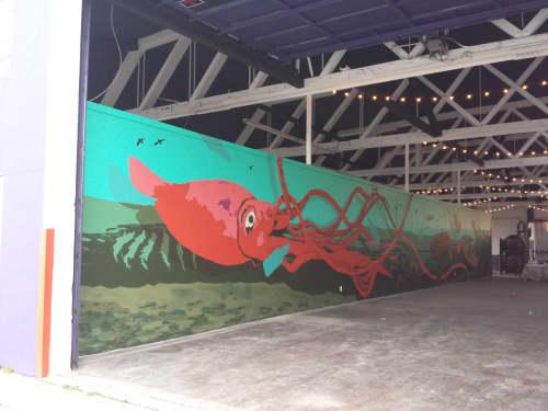 Murals by Showdeer seen at Lagunitas Brewing Company TapRoom & Beer Sanctuary, Seattle - Lagunitas Brewing Seattle/Ballard Mural