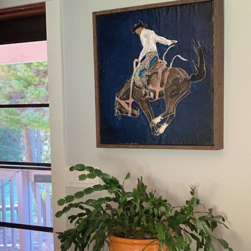 Paintings by Lisa Butters - Riding Big Sky
