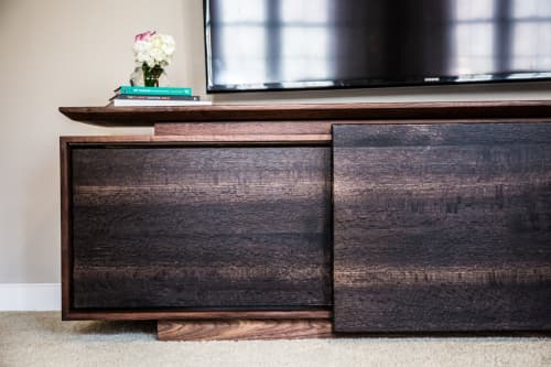 Furniture by Alicia Dietz Studios seen at Private Residence, Richmond - Behind Door #2 Media Console