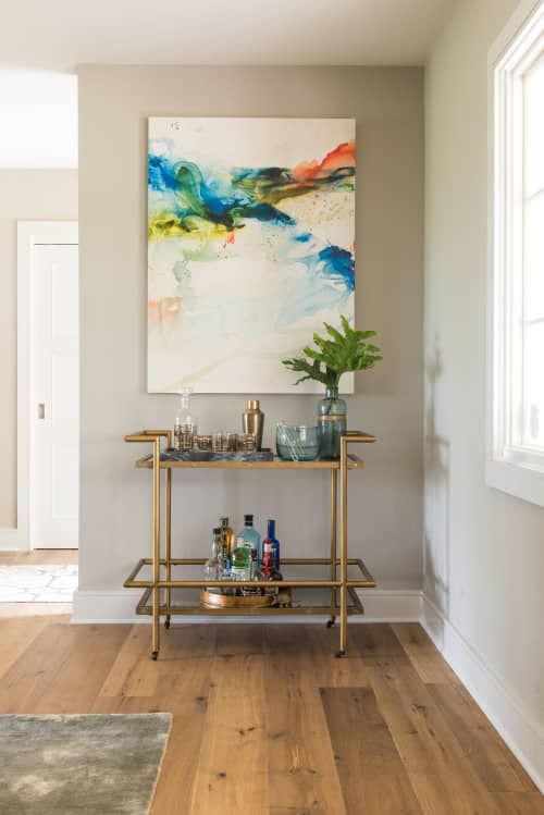 Paintings by Maria Martin seen at Private Residence, Austin - Multi color Custom on Clay
