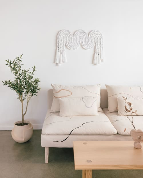 Sculptures by Cindy Hsu Zell - Rope Squiggle (Light Grey)