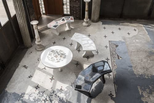 Chairs by Robert Sukrachand seen at Creator's Studio, Brooklyn - Mirazzo