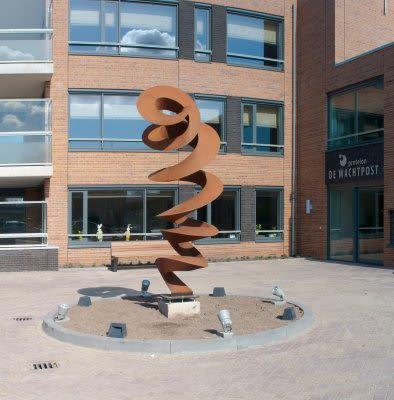 Public Sculptures by Pieter Obels at Woonwenz, Venlo - Upwards