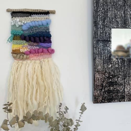 Rainbow Organic Woven Wall Hanging   Macrame Wall Hanging by Gabrielle Mitchell Studio