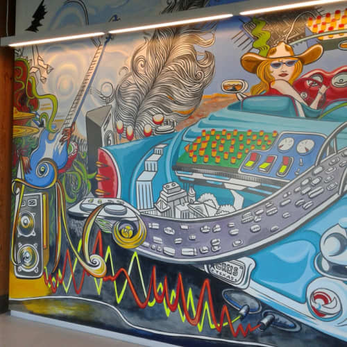 AUSTIN  headquarters , CIRRUS LOGIC   Paintings by Paul Santoleri   Cirrus Logic in Austin