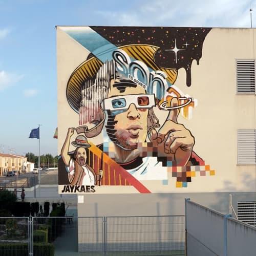 Street Murals by JAY KAES - Soñar es gratis / Dreaming is free