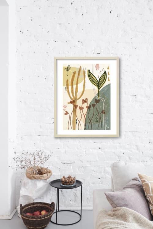 Paintings by Birdsong Prints seen at Creator's Studio, Denver - Scandinavian Modern Botanical Art Print