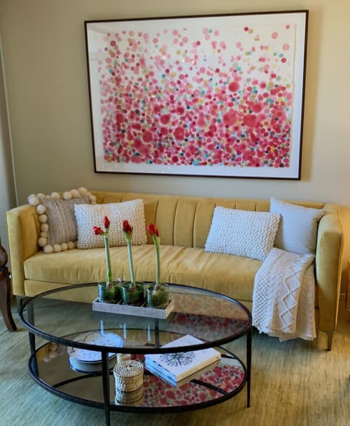 Paintings by Jan Heaton seen at Private Residence, Austin - Crimson 1