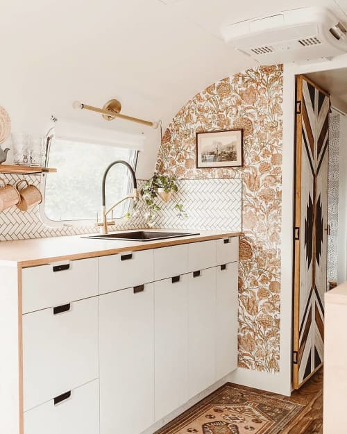 Wallpaper by Peacoquette - Ophelia's Posy Gilt Wallpaper