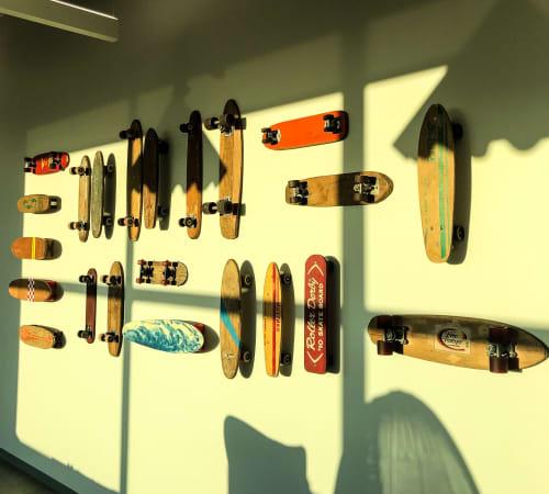 Wall Hangings by ANTLRE - Hannah Sitzer seen at Google RWC SEA6, Redwood City - Skateboards