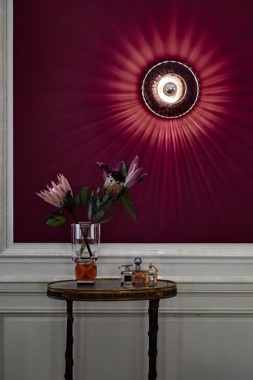 New Wave Optic Wall Light Sconce   Sconces by Marie Burgos Design and Collection