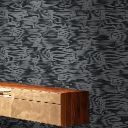 Wallpaper by Jill Malek Wallpaper - Aegean   Silver Stream