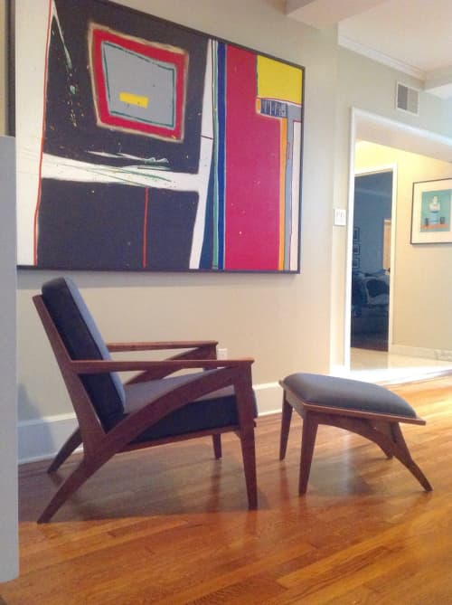 Wise Lounge Chair & Ottoman   Chairs by Eben Blaney Furniture