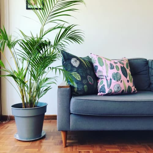 Pillows by Sera Holland seen at Creator's Studio, Cape Town - Double-sided Lux Panama cushions