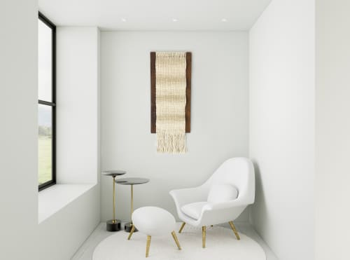 Macrame Wall Hanging by YASHI DESIGNS seen at Private Residence, Sacramento - Contemporary fiber art sculpture- The Waves
