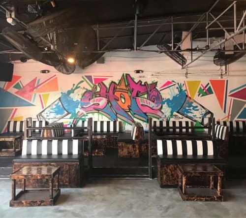 Murals by Rudy Mage at SHOTS Miami, Miami - VIP Area mural