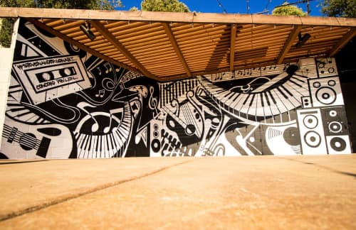 Wall Mural | Murals by Steven Anderson Art | Concord Pavilion in Concord