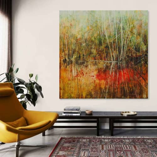 Paintings by Susan Schmidt at Noosa Heads, Noosa Heads - Red River Rush_2018