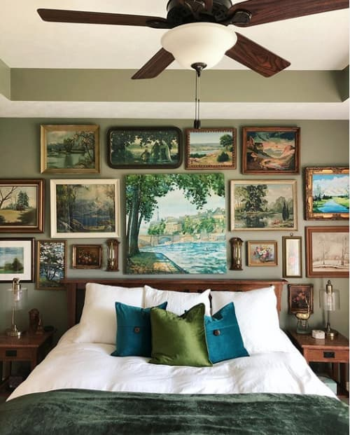 Interior Design by SugarKane seen at Private Residence, Springfield - Master Bedroom Gallery Wall