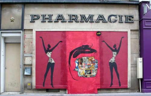 Street Murals by Franck Duval seen at rue de Sèvres, Paris - Rue de Sèvres Paris 2012