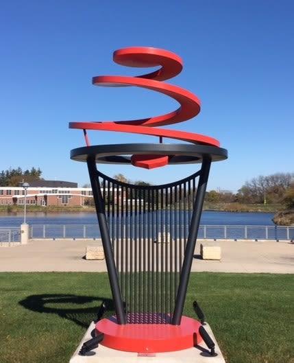 Circle of Life | Public Sculptures by Hilde DeBruyne Art & Design LLC | West Des Moines City Hall in West Des Moines