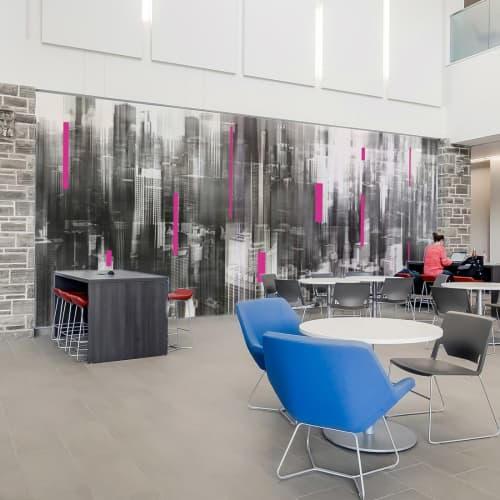 Art for Chicago Office Lobby   Wall Treatments by Sven Pfrommer   Embassy Suites by Hilton Chicago North Shore Deerfield in Deerfield