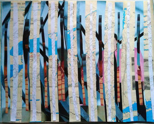 Quarantine Collage Series   Wall Treatments by LNozickArt/Design