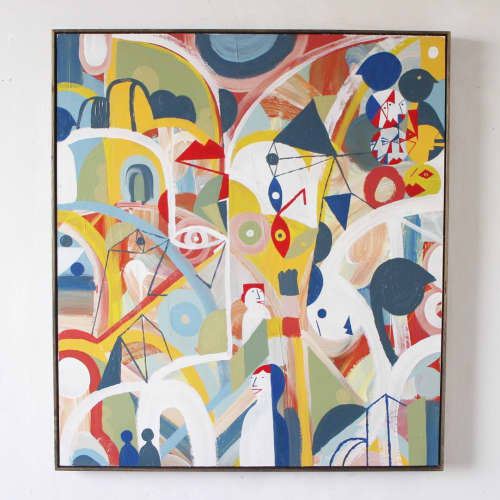 Paintings by Unwell Bunny / Ed Bechervaise - Athens sun