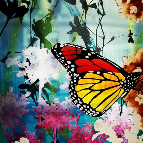 Glass Butterfly Sample | Paintings by Cara Enteles Studio | GLASMALEREI PETERS STUDIOS in Paderborn