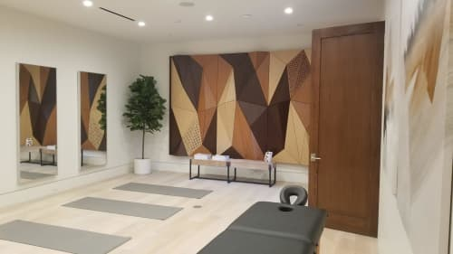 Wall Treatments by Mikodam Design seen at Private Residence - Private Gym
