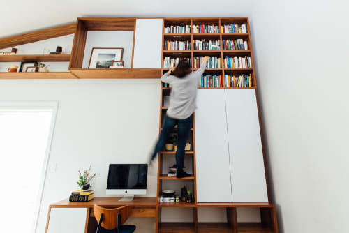 Furniture by Watt Wrks seen at Private Residence, Vancouver - 12ft. Walnut Wall Unit
