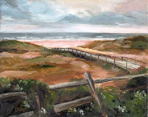 Beach at Hanna Park   Paintings by Keith Doles