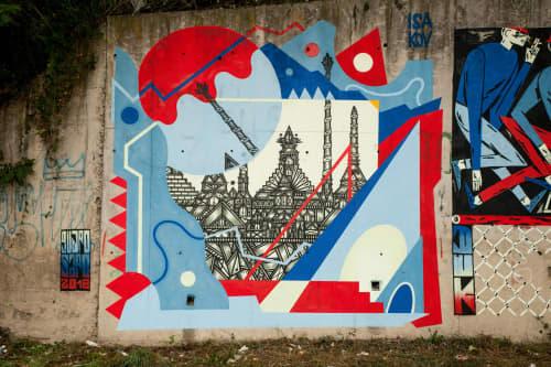 Murals by Isakov seen at Čačak, Čačak - Duk Festival