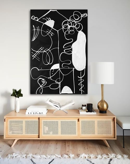 'STOP MAKiNG SENSE' original abstract painting by Linnea Hei   Paintings by Linnea Heide contemporary fine art