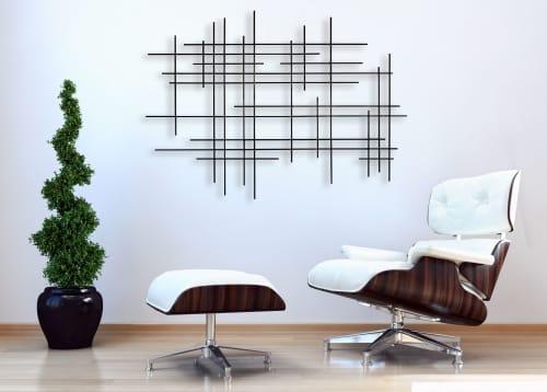 """Linear I"" Metal Wall Art Sculpture | Sculptures by Karo Studios | Los Angeles in Los Angeles"