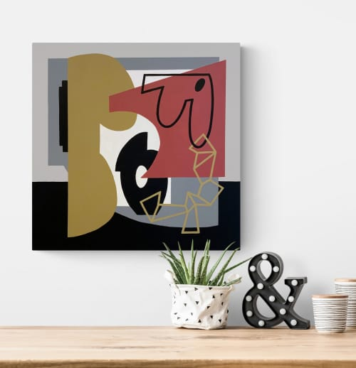 Can and Will abstract canvas painting | Paintings by Gwen Gunter