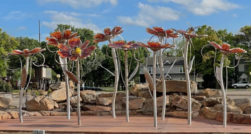 Public Sculptures by Amie Jacobsen Art and Design seen at 300 SE Adams Blvd, Bartlesville - Native Color at Unity Square