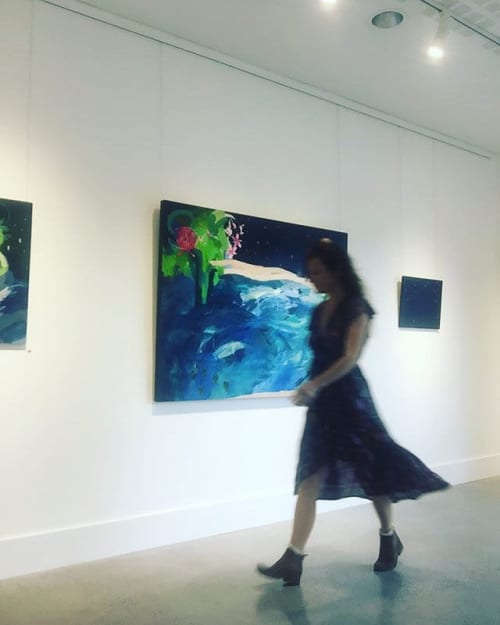 The blue lagoon   Paintings by Nikky Morgan-smith   Lone Goat Gallery in Byron Bay