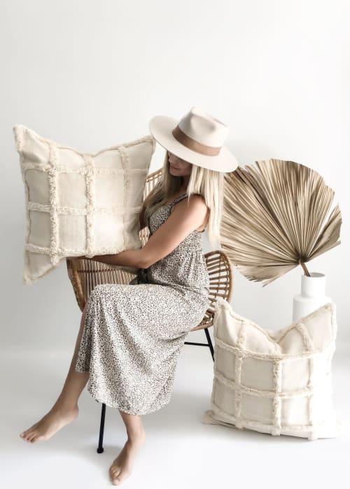 Pillows by Coastal Boho Studio - Marina Handwoven Pillow Cover
