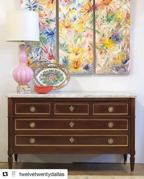 Flurry of Flowers   Paintings by Debbie Daise Art    @Debbiedaiseart   Twelve Twenty Dallas in Dallas
