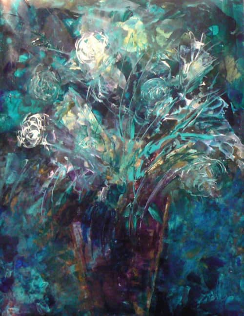 Paintings by Barfoot Fine Arts - Flowers for Nevaeh