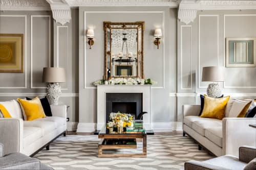Interior Design by Barlow & Barlow Design Ltd. / Lucy Sear Barlow seen at Westminster, London - Film Producer Interior