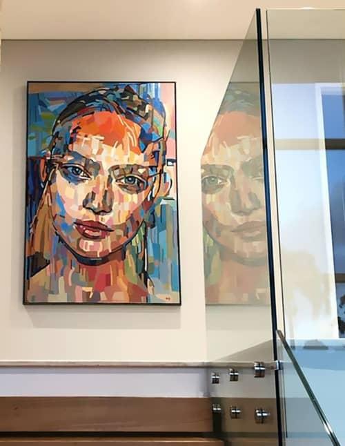 Paintings by Noemi Safir Artist at Restaurant - Lilli P., München - Hocus-Focus